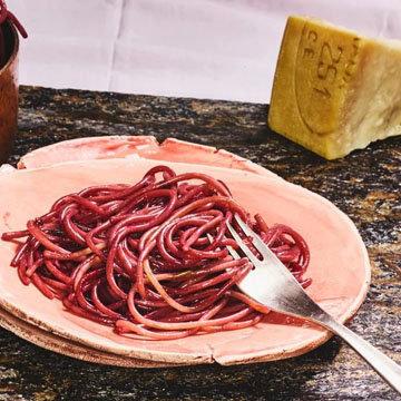 Рецепт спагетти с вином
