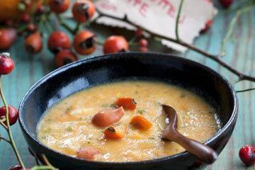 Тыквенный суп с шиповником
