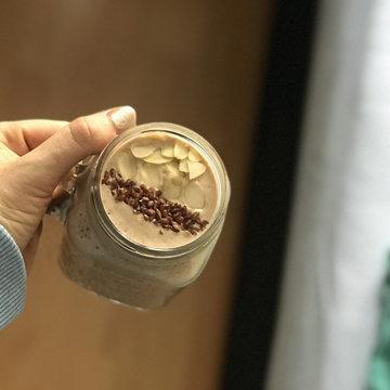 Кофейный смузи с бананом диетический рецепт