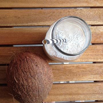 Кофейный смузи с бананом рецепт с молоком