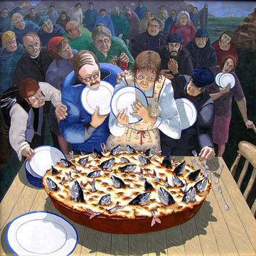 Пирог с рыбой рецепт Stargazy Pie - рецепт с историей
