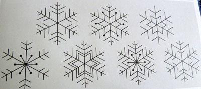 Шаблон Снежинка 1
