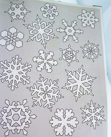 Шаблон Снежинка 2