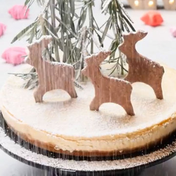 Торт на Новый год с оленями
