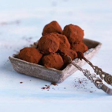 Трюфели из темного шоколада