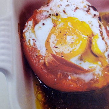8. Запеченные помидоры с яйцом