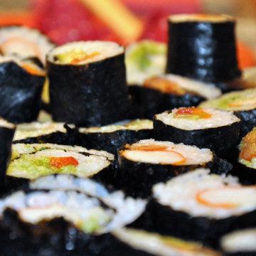 Сладкие суши - валентинки