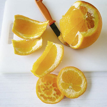 очистить апельсин
