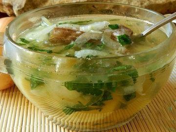 Варим в казане суп
