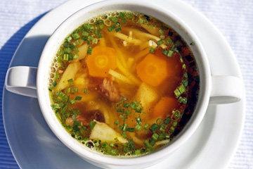 Супы из различных овощей