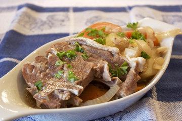 2. мясо отварное