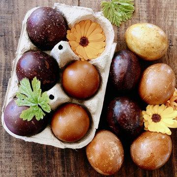 красить на Пасху яйца вкрутую