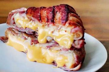 лучший бутерброд с беконом и сыром в мире