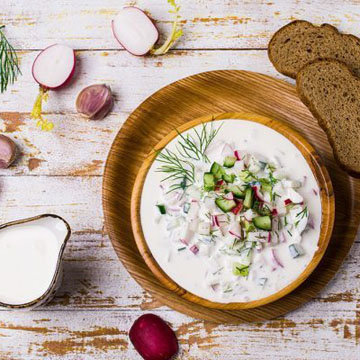 Летний суп с овощами