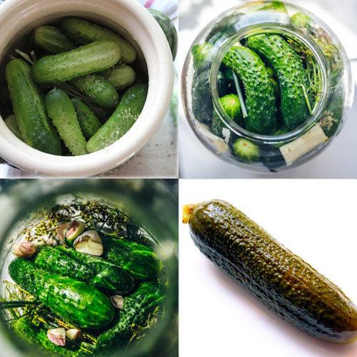 Рецепт соленых огурцов в банке с листьями 2