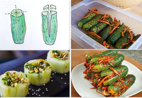 Рецепт соленых огурцов холодным способом аля Кимчи 5