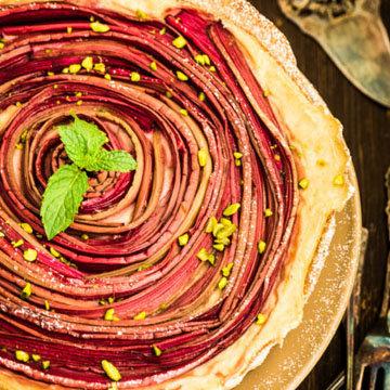 вкусный пирог с ревенем