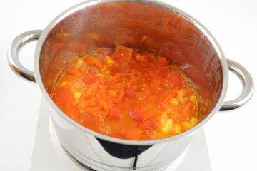 томатный сок довести его до кипения