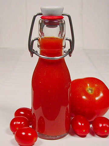томатный сок, томатная паста и кетчуп