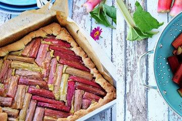 5. Как испечь вкусный пирог с ревенем с фисташковым франжипаном