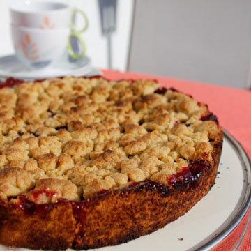 Вишневый пирог с песочным тестом 1