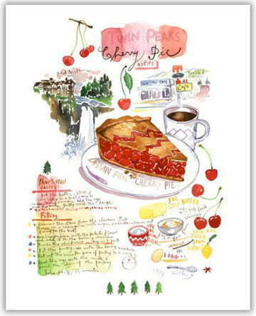 Мастер класс Вишневый пирог рецепт Твин Пикс 1