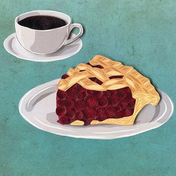 кусочек чертовски хорошего вишневого пирога