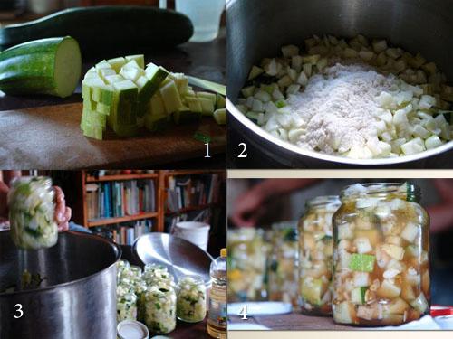 Рецепт кисло-сладких маринованных кабачков