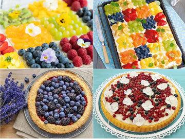 печь пирог с фруктами 1
