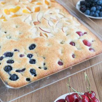 5. Быстрый фруктовый торт рецепт на противне