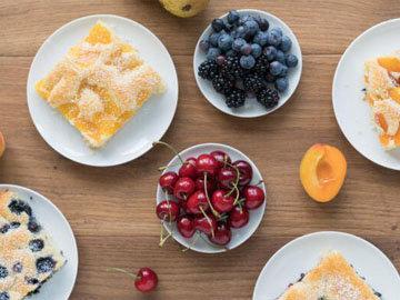 5a. Быстрый фруктовый торт рецепт на противне