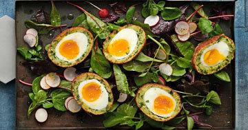 Вегетарианские яйца по-шотландски 1