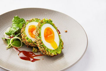Вегетарианские яйца по-шотландски