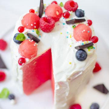 Здоровый арбузный торт