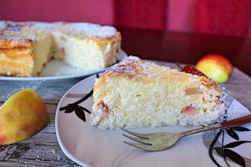 Рецепт рисовой творожной запеканки с яблоками 1