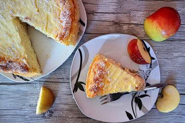 Рецепт рисовой творожной запеканки с яблоками