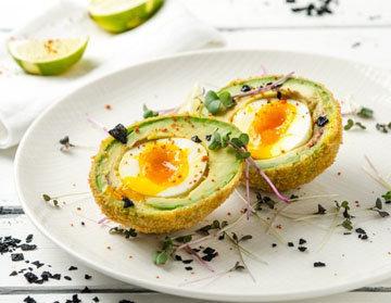 Хрустящие яйца по-шотландски рецепт с авокадо