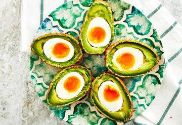 Яйца по-шотландски с авокадо Динозавры 1