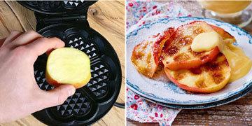 11b. Печь без духовки и жарить без сковороды яблочные дольки