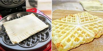 11h. Печь без духовки и жарить без сковороды вафли из слоеного теста