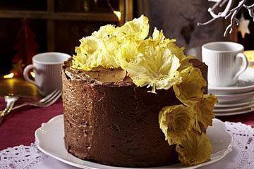 27. Украшение торта. Ананасовые цветы