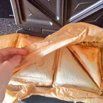29. Вам не придется чистить сэндвичницу