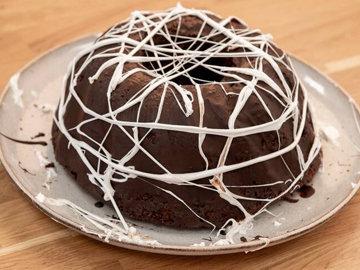 Выпечка на Хэллоуин - Тыквенно-шоколадный пирог