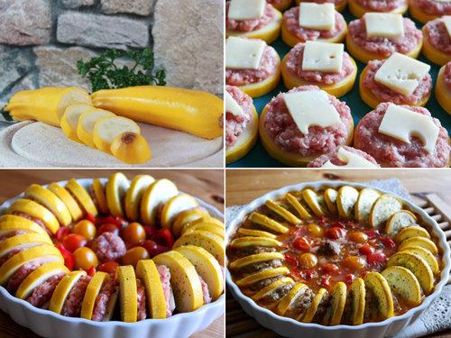 Запеканка из кабачков с сыром или с фаршем