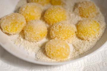 Запеченные яичные желтки 1