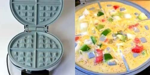 Приготовить омлет прямо в вафельнице