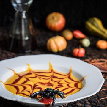 Тыквенный суп на Хэллоуин
