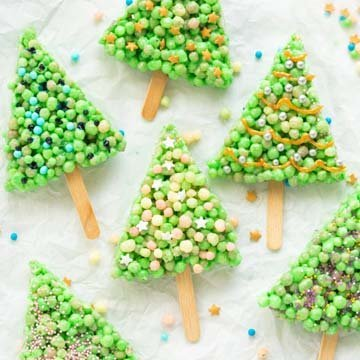 Как украсить печенье Елочки для детей