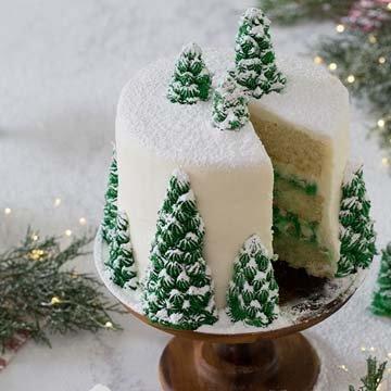Как украсить торт на Новый год 2021