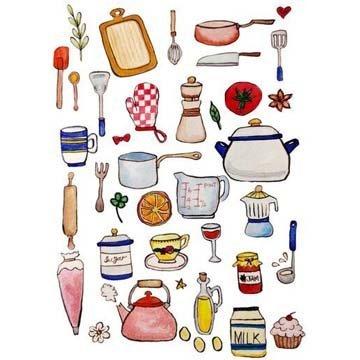 Рисунки кухонных предметов и продуктов2